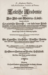 "Title page of the ""Teutsche Academie"", Nuremberg 1675"